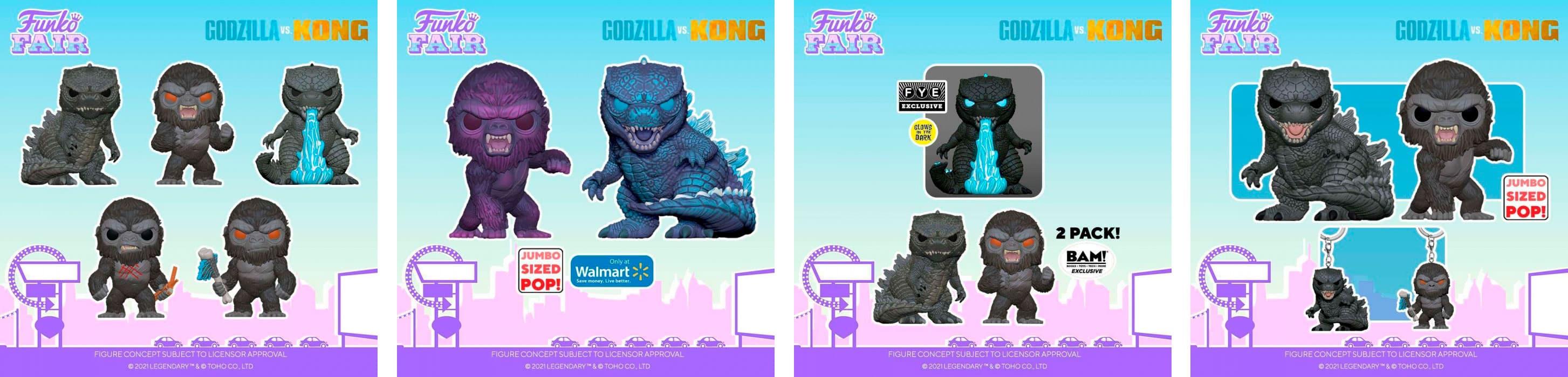 Nueva colección de Funkos de Godzilla y Kong presentados en la Funko Fair 2021